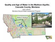 Quality and Age of Water in the Madison Aquifer, Cascade County ...