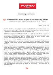 COMMUNIQUE DE PRESSE POWEO - Costkiller