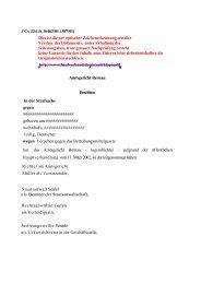 Vorlage des Amtsgerichts Bernau - des Deutschen Hanf Verband