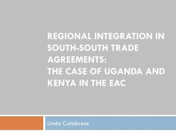 Regional Integration in South-South Trade Agreements - DAAD ...