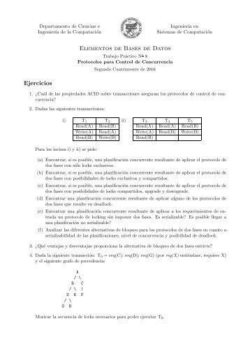 Elementos de Bases de Datos Ejercicios - Departamento de ...