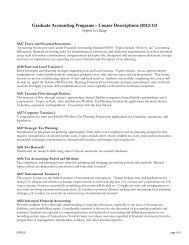 GAP Accounting Course Descriptions 2012-13 - Kelley School of ...