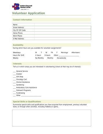 Volunteer Application - IU Health