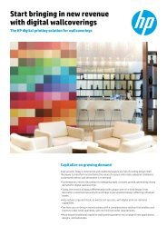 Start bringing in new revenue with digital wallcoverings - HP