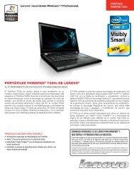 Especificaciones técnicas del modelo Thinkpad T420s