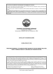 OVERSEA ENTERPRISE BERHAD - ChartNexus