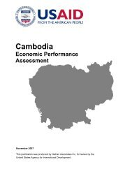 Cambodia Economic Performance Assessment - Economic Growth ...