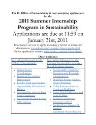 2011 Summer Internship Program in ... - Indiana University
