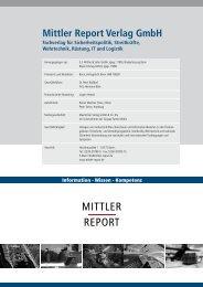 Verlagsprogramm - Mittler Report Verlag