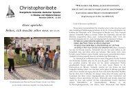 Christophoribote November 2006/ Nr. 11 - Breslau-Wroclaw