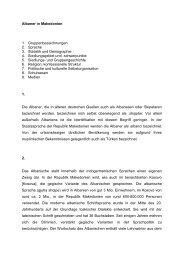 Albaner in Makedonien 1. Gruppenbezeichnungen 2. Sprache 3 ...