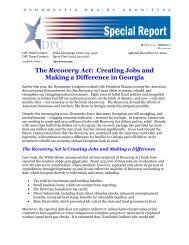 The Recovery Act - Democratic Policy & Communications Center