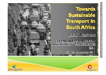 Johan_Bosman_Towards_Sustainable Transport in ... - Alive2green