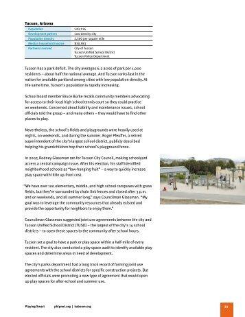 Tucson, Arizona Tucson has a park deficit. The city ... - KaBOOM!