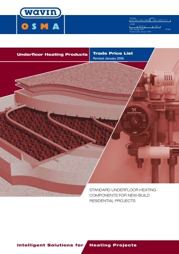 Underfloor heating products - trade price list - CMS
