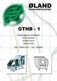 Tekniske data alle GTHB-1 - Øland Online