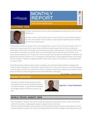 november 2009 trade overview - the California Tourism Industry ...