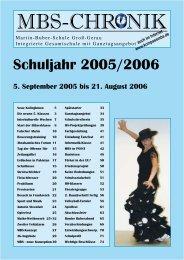 CHRONIK Schuljahr 2005/2006