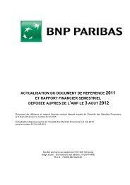 Actualisation du document de référence - BNP Paribas