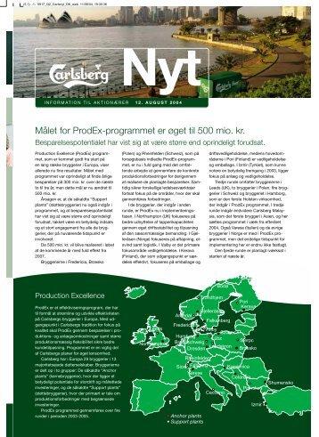 Målet for ProdEx-programmet er øget til 500 mio. kr. - Carlsberg Group