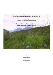 Den færøske befolknings holdning til natur- og ... - faroenature.net