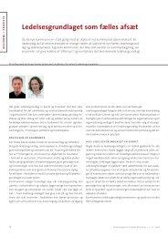 Artikel: Ledelsesgrundlaget som fælles afsæt - KLK