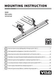 MOUNTING INSTRUCTION - VBG