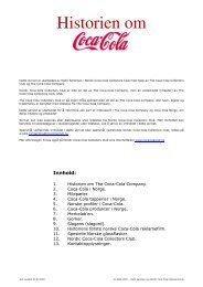 Historien om - Nordic Coca-Cola Collectors Club