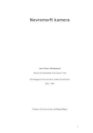 Nevromorft kamera - DUO - Universitetet i Oslo