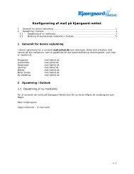 Outlook - Kjærgaard-Nettet