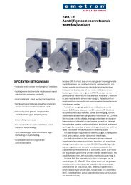 EMX™-R Aandrijfsysteem voor roterende warmtewisselaars - Emotron