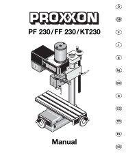 PF 230/FF 230/KT230 Manual - Axminster Power Tool Centre