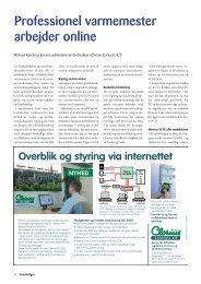 Professionel varmemester arbejder online - Clorius Controls