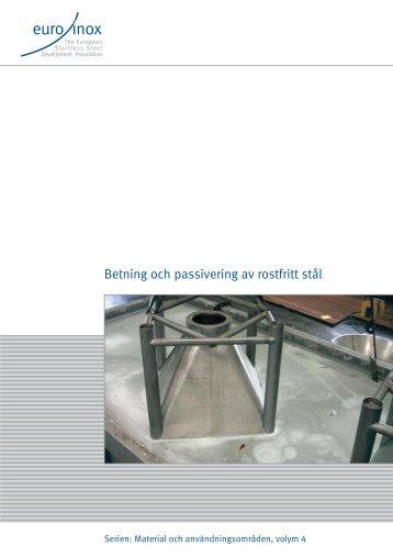 PDF: Betning och passivering av rostfritt stål - Euro Inox