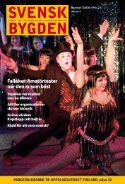 Svenskbygden 1-2010 - Svenska folkskolans vänner