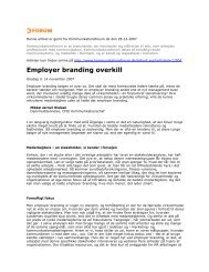 Employer branding overkill - Kommunikationsforum
