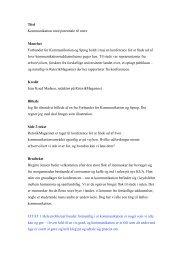 Titel Kommunikation med potentiale til mere Manchet ... - UCL