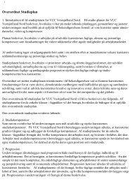 Læs overordnet studieplan som pdf - Nordvestsjællands HF-VUC