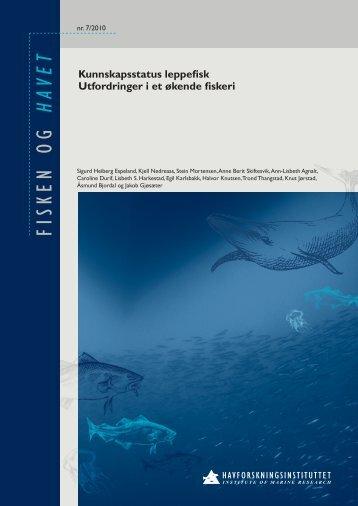 FISKEN OG - Havforskningsinstituttet