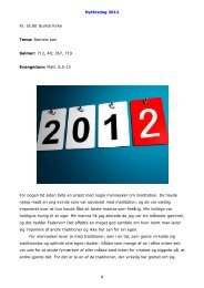 Nytårsdag 2012 1 Kl. 16.00 Burkal Kirke Tema: Barnets bøn Salmer ...