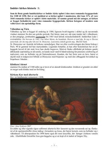 Læs historie om - Brenderup Indslev Kirke