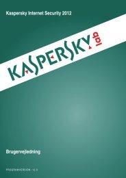 Kaspersky Internet Security 2012 Brugervejledning - Talkactive.net