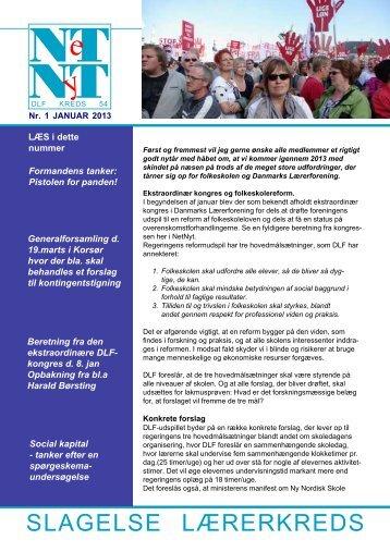 Netnyt januar 2013 - Aktuelt fra Slagelse Lærerkreds
