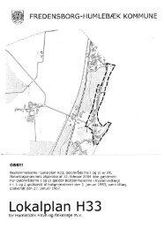 H33 Lokalplan for Humlebæk Havn mv - Fredensborg Kommune
