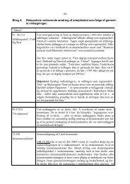 Bilag 4: Retspraksis vedrørende ændring af arbejdssted som følge ...