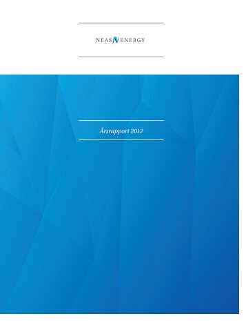 Årsrapport 2012 - Neas Energy