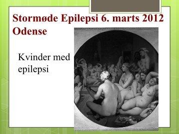 oplægget om kvinder og epilepsi.
