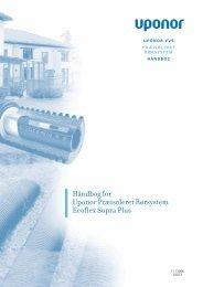 Håndbog for Uponor Præisoleret Rørsystem Ecoflex Supra Plus