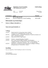 Sak09-54 Referatsaker og orienteringer - Høgskolen i Nord-Trøndelag