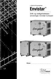 Drift- og vedligeholdelses- anvisninger, Envistar Compact - IV Produkt